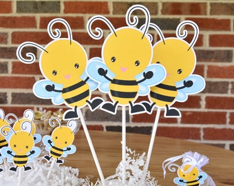 3 Bee Table Decorations, Bee Centerpieces, Bee Baby Shower Decorations, Bee  Party Decor
