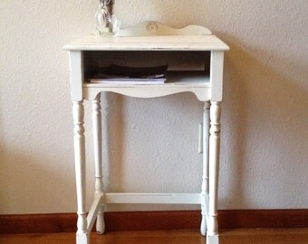 Vintage Phone Stand, Side Table, Night Stand, Painted Table, End Table, Wood Table