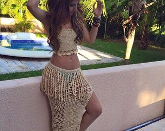 hazel nut set top and skirt
