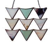 """Arrowhead Block in Stained Glass    6.5 x 8.75"""" with 9.5"""" chain"""