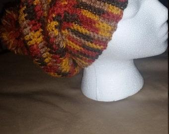 Crochet ribbed slouchy beanie