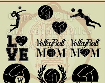 Volleyball SVG, Volleyball Cameo Silhouette Design, Volleyball Cricut Design, Volleyball MOnogram, , Cutting File, Eps, svg, ai, dxf, png