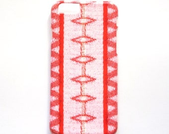 Pink & Red Geometric iPhone 6 case, Pink Phone Cover for iPhone 5/5S and iPhone 6 plus Cell Phone Covers