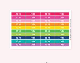 To Do Header Planner Stickers | BRIGHT RAINBOW