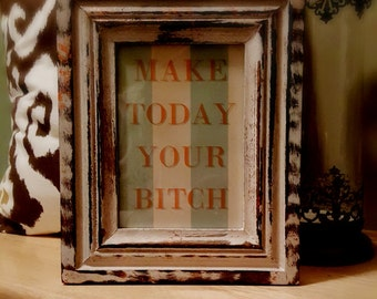 5x7 Framed Motivational Picture with Frame
