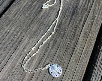 Sand Dollar Necklace, Christian Jewelry, Legend of the Sand Dollar, Beach Jewelry, Silver Sand dollar jewelry
