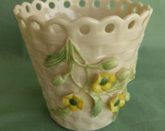 Basketweave Vase Etsy