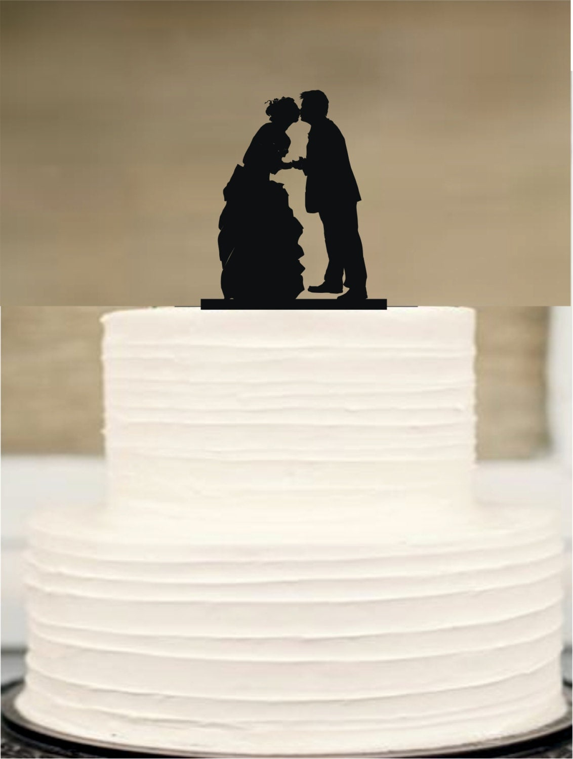 Silhouette Wedding Cake Topper Bride and groom Cake Topper