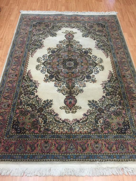 "5'3"" x 7'7"" Turkish Wilton Weave Oriental Rug - 100% Wool Pile"