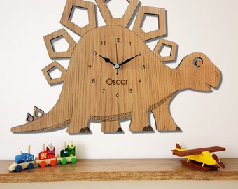 Dinosaur Wall Clock, Stegosaurus Children's Clock,