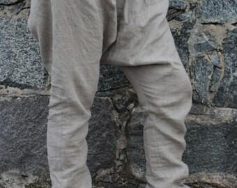 Linen Harem Pants, Linen Pants, Drop Crotch Pants, Baggy Pants, Festival Pants, Plus Size Pants, Bohemian Pants, Maternity Pants Dance Pants