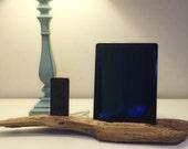 Driftwood iPad Dock, iPhone docking station, iPad charging station, iPhone charger, wooden iPhone and iPad dock - A1