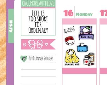 Munchkins - Sick Day Planner Stickers (M18)