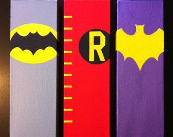 Batman 60's Canvas Paintings (3; Batman, Robin, Batgirl)