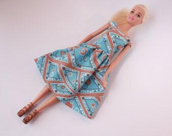 Barbie Clothes, Barbie Dress, Blue Barbie dress, clothes, kayleesboutique03