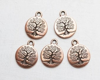 Tree of life Charm Tree of Life Copper Charm Disc Charm Made in USA High Quality 004TCD