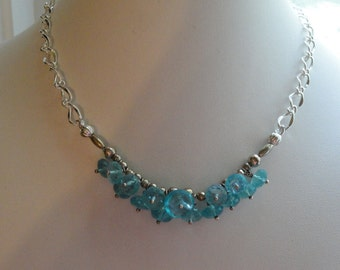 Aquamarine Necklace   #490