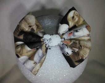 Sheep Hair Bow - Small