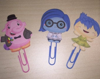 Inside Out paper clip bookmarks