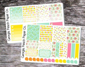 Easter/Chicks Themed Planner Stickers - Made to fit Vertical Layout