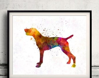 German Short haired Pointer in watercolor INSTANT DOWNLOAD 8x10 inches Fine Art Print Poster Decor Home Watercolor Illustration - SKU 0404
