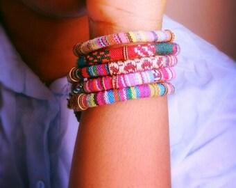 Tribal Cord bracelets/ boho chic/cord bracelets.
