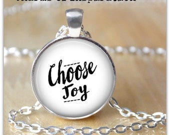 Choose Joy Necklace Choose Joy Keychain Keyfob Joy Necklace Joy Inspirational Jewelry Joy Mantra Necklace Joy Mantra Keychain keyfob