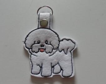 Bichon (Embroidery/Felt/Keychain)