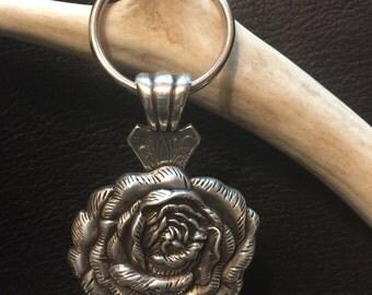 Rose Concho Key Chain