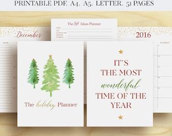 Christmas Planner Holiday Planner Christmas Organizer Christmas Printable Gift Planner Christmas Organiser Christmas Planning To do list