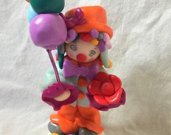 Decorative figurine / fact-fimo-clown hand/multicolor/decoration cake birthday gift birthday/bedroom child table /deco