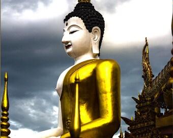 Buddha Photography, Fine Art Photography, Thailand Poster, Buddha Wall Art, Asian Art - Buddha at Wat Lok Molee, Chiang Mai