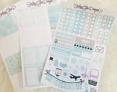 Winter Wonderland Themed Weekly Planner Sticker Kit | Erin Condren & Plum Paper Planner