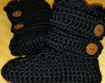 Kids crochet slippers.  Slipper boots. Indoor boots.