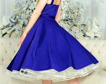 Crinoline petticoat Tea Length Retro 1950s Slip Many Colors