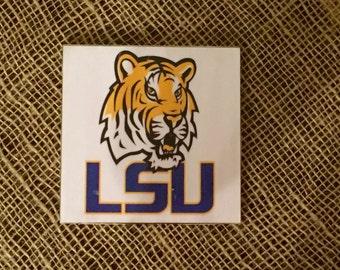 LSU Mix and Match Coaster Set of Four
