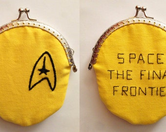 Star Trek Embroidered Purse - Captain Kirk: Space, the final fontier