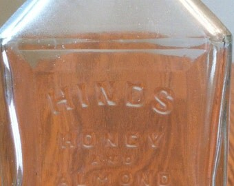 Antique Hinds Honey and Almond Cream Bottle
