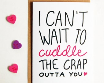 I Can't Wait to Cuddle You Greeting Card, Long Distance Boyfriend Gift, Greeting Cards, LDR Card, Boyfriend Gift, Long Distance Relationship