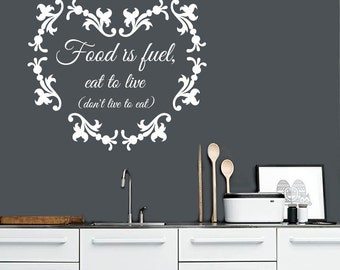 Eat to live etsy for Stickers salle a manger