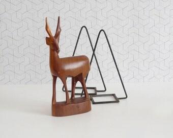 Teak antelope / gazelle - mid century modern figurine 60s