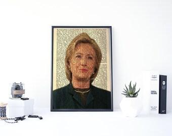 Hillary Clinton Poster, Political Poster, US Presidents, Hillary Poster, Election 2016, Hilary Clinton, Democrat, Republican, Presidential