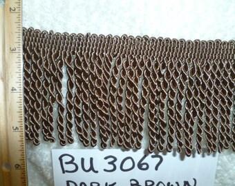 "BU3067  Dark Brown 3"" Bullion 25 Yards"