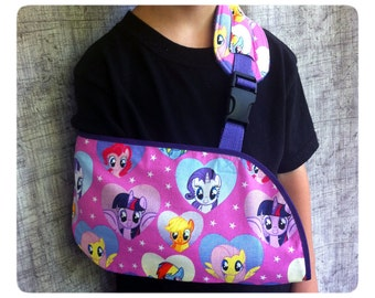 Ready to Ship! Pink My Little Pony Pediatric Arm Sling -  Toddler arm sling -  Child arm sling - Adult arm sling - all sizes
