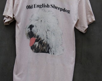 vintage worn old english sheepdog favorite tshirt