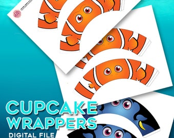 Finding Nemo Cupcake Wrappers Digital File