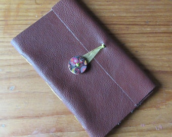Hand made leather bound sketch book