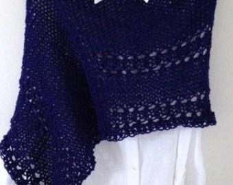 Teen tops.9-13 years old.ponchos.chicas girls.azul. Bolero. Nuevo.CAPA.hecho handmade