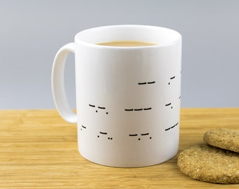 My Perfect Cuppa Morse Code Mug // Quirky // Secret Message // Tea Coffee Lover //