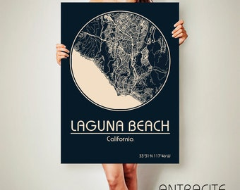 LAGUNA BEACH California Map Laguna Beach Poster City Map Laguna Beach California Art Print Laguna Beach California poster Laguna Beach
